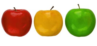 Tricolor apples Royalty Free Stock Photos