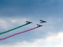 Tricolor arrows air show. Tirrenia, Pisa, Italy, September 11 Stock Photos