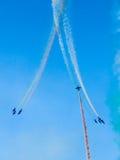 Tricolor arrows air show. Tirrenia, Pisa, Italy, September 11, 2 Stock Images