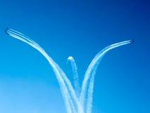 Tricolor arrows air show. Tirrenia, Pisa, Italy, September 11, 2 Stock Photos
