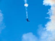 Tricolor arrows air show. Tirrenia, Pisa, Italy, September 11, 2 Royalty Free Stock Photos