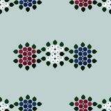 Tricolor ash berry decorations. Vector background Stock Photos