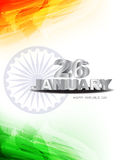 Tricolor Background For Indian Republic Day. Royalty Free Stock Photo