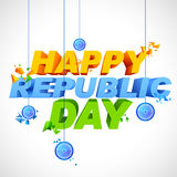 Tricolor background for Happy Republic Day of India Stock Images