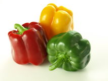 Tricolor bell peppers Royalty Free Stock Photography