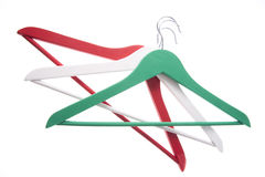 Tricolor coat hanger. Commemoration of 150 years of the unification of Italy royalty free stock image