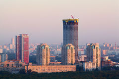 Tricolor complex under construction Royalty Free Stock Photo