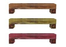 tricolor de banco de madera foto de archivo libre de regalías