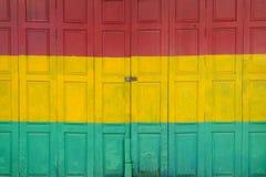 Tricolor de la puerta de madera Imagenes de archivo