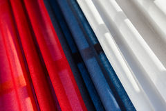 Tricolor drapery with red, blue and white Stock Photography