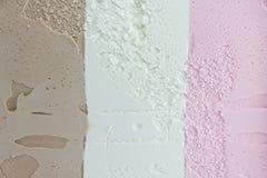 Tricolor Eiscreme stockbilder
