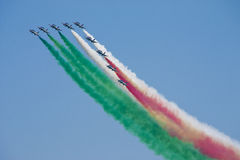 Tricolor fighter Royalty Free Stock Photography