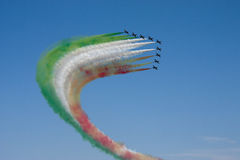Tricolor fighter Royalty Free Stock Photo