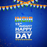Tricolor India banner for Happy Independence Day of Indian Royalty Free Stock Images
