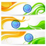 Tricolor India banner Stock Photos