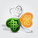 Tricolor koniczyna dla St Patrick ` s dnia Zdjęcie Royalty Free