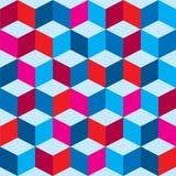 Tricolor optisk bakgrund Arkivfoto