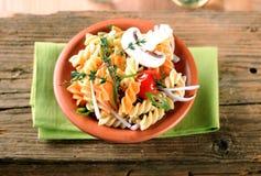 Tricolor pasta Stock Photo