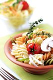 Tricolor Pasta Royalty Free Stock Photos