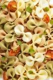 Tricolor pasta Arkivbild