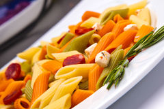 Tricolor pasta dish Royalty Free Stock Photography