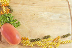 Tricolor pasta frame Royalty Free Stock Photo