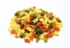 Tricolor Pasta fusilli pile Royalty Free Stock Photo