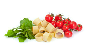 Tricolor pasta royalty free stock image