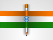 Tricolor pencil for Indian Republic Day celebration. Stock Image