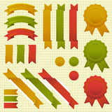 Tricolor ribbons Royalty Free Stock Photo