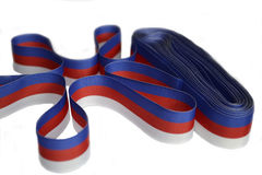 Tricolor ribbons. Hank tricolor ribbons on white background Stock Image