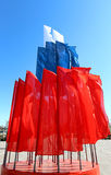 Tricolor Russian flag. Beautiful tricolor Russian flag is red , white and blue royalty free stock images