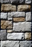 Tricolor stone wall Royalty Free Stock Images