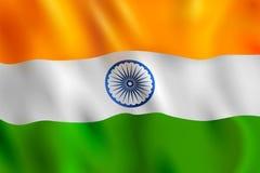 Tricolor sztandar z indianin flaga dla 26th Stycznia republiki Szczęśliwego dnia India Obrazy Stock