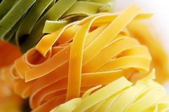 Tricolor tagliatelle Royalty Free Stock Photography
