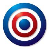 Tricolor target vector illustration