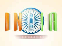 Tricolor text for Indian Independence Day. Royalty Free Stock Image