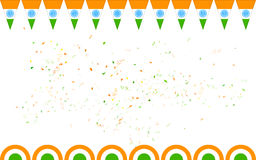 Tricolor till salu Indien baner och befordran Royaltyfri Foto