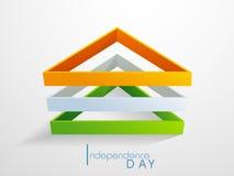 Tricolor trianglar för indisk självständighetsdagen Arkivbilder