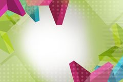 Tricolor triangle dotted , abstract background Stock Image