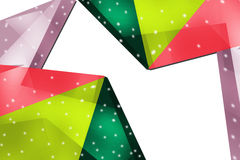Tricolor triangle shapes, abstract background Stock Image