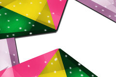 Tricolor triangle shapes left side, abstract background Stock Image