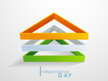 Tricolor Triangles for Indian Independence Day. Stock Images