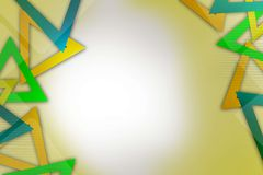 tricolor triangular ring overlap, abstract background Stock Photo