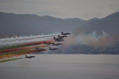 Tricolor van luchtpijlen Royalty-vrije Stock Foto's