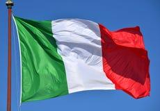 Tricolore, итальянский национальный флаг Стоковые Фото