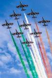 Tricolore de Frecce Fotos de archivo