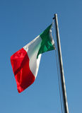 Tricolore - italian flag. Italian flag in sun and wind Stock Photography