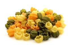 Tricolore tulips pasta Stock Image