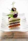 Tricolored三明治栈 库存照片
